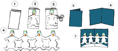 Как вырезать гирлянду из бумаги своими руками